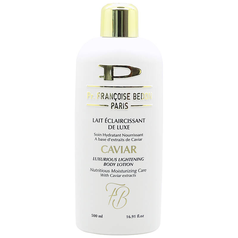 Pr. Françoise Bedon Paris Lait Éclaircisstant De Luxe Caviar Soin Hydratant Caviar Luxurious Lightening Body Lotion (500ml)