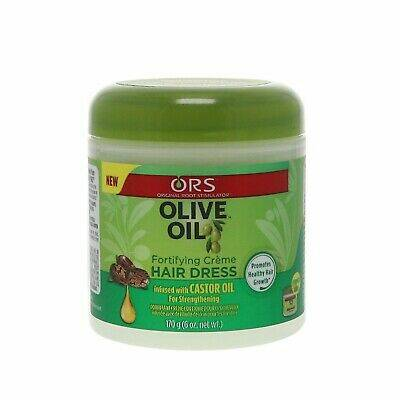 ORS Olive Oil Fortifying Créme Hair Dress Infused With Castor Oil For Strengthening (170g)
