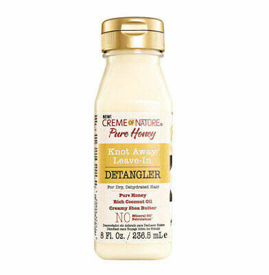 Creme Of Nature Pure Honey Knot Away Leave-in Detangler For Dry Dehydrated Hair (236.5ml)