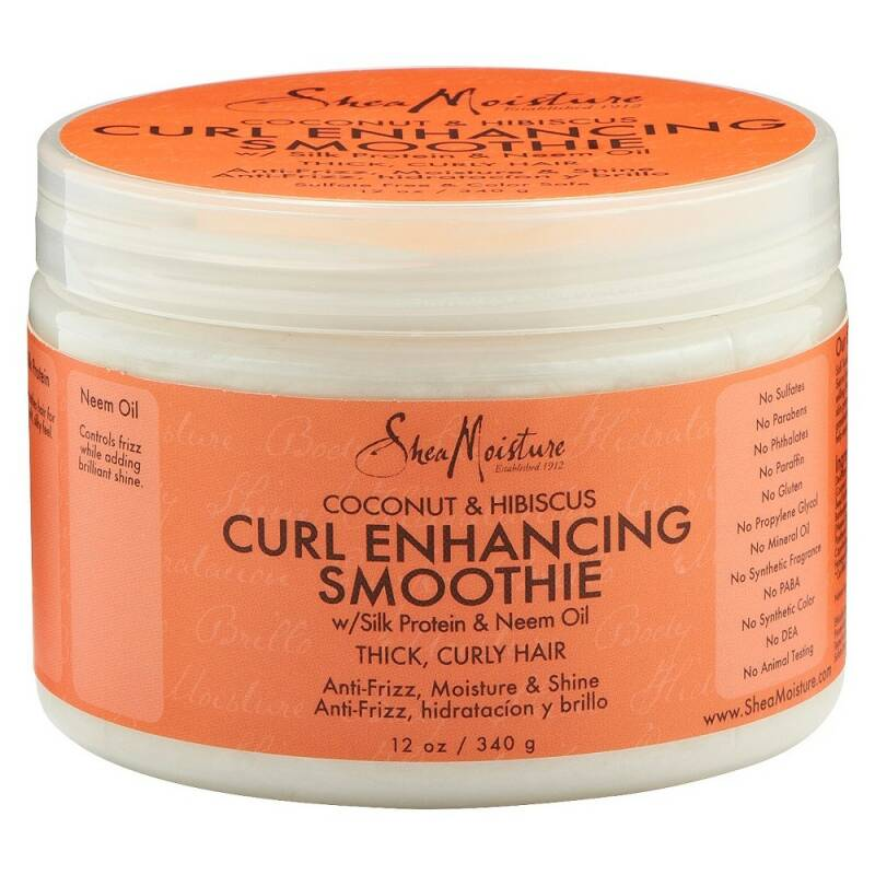 Shea Moisture Coconut & Hibiscus Curl Enhancing Smoothie with Silk Protein & Neem Oil (340g)