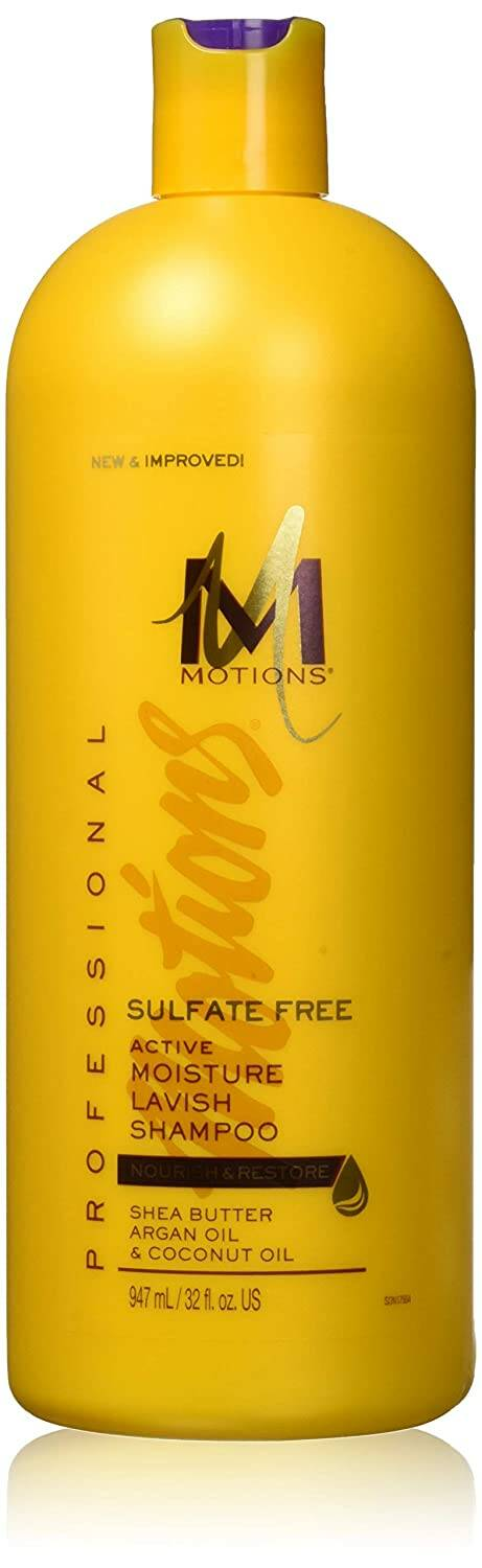 Motions Active Moisture Lavish Shampoo With Sea Butter, Argan & Coconut Oil Sulfate Free (947ml)