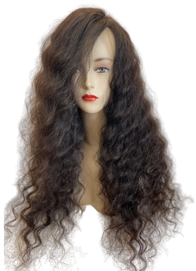 Brazilian 100% Human Virgin Hair Wig Body Weave Front Lace 26 inch (150g)