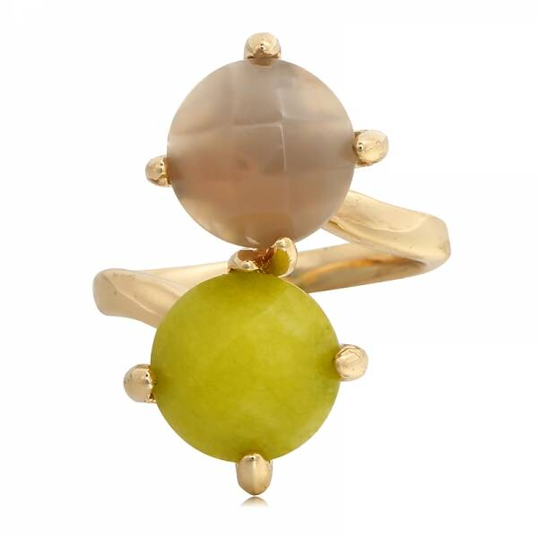 Gouden Ring Green/ Taupe