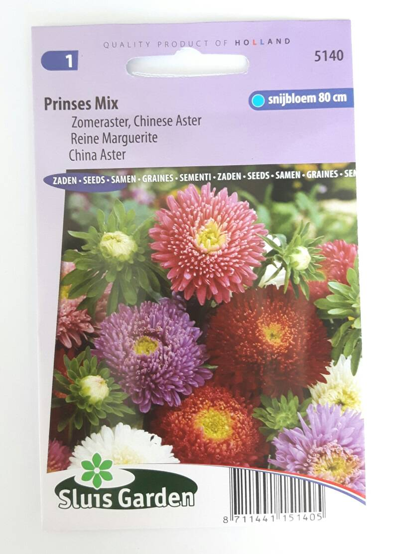 Aster Prinses Mix (Zomeraster)