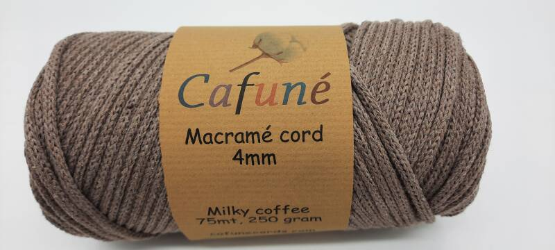 Milky Coffee Macrame koord 4mm