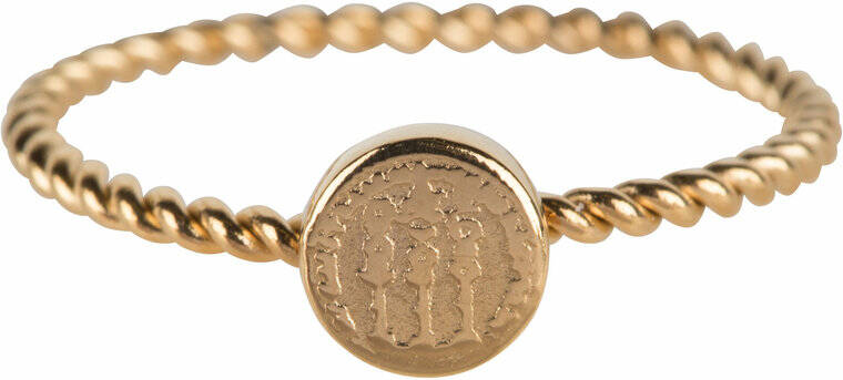 Twisted historic coin ring