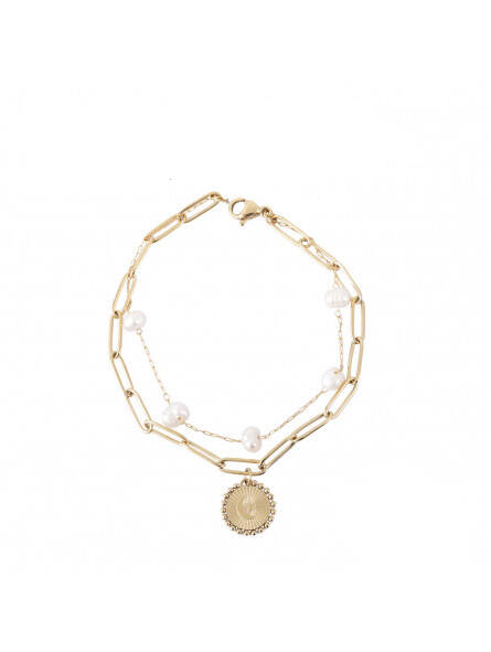 Parel chain bracelet