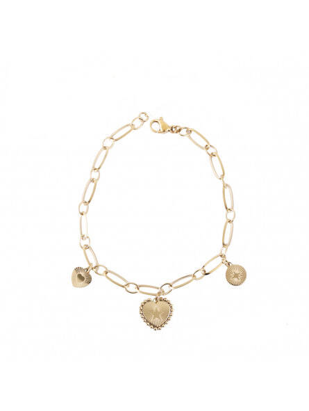 Double star chain bracelet