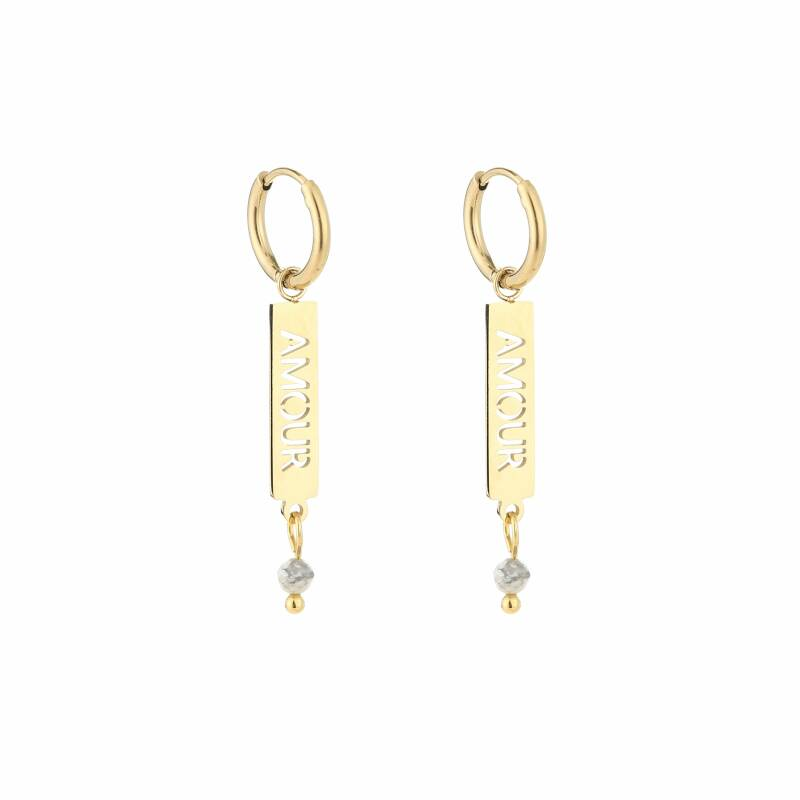 Amour bar earrings