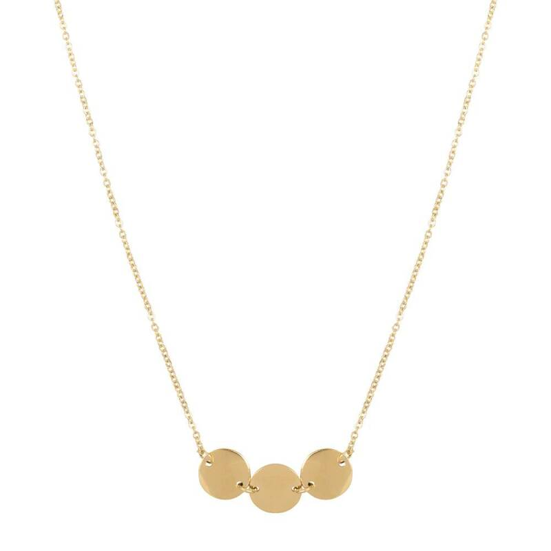 Triple coins necklace