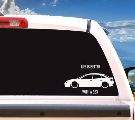Autosticker 'Life is Better With A 323'
