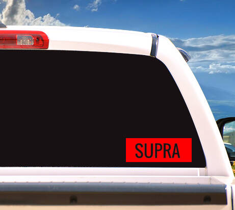 Autosticker Red 'SUPRA'
