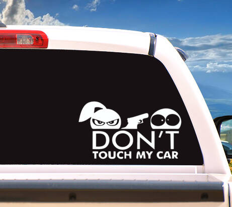 Autosticker 'Don't Touch My Car'