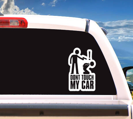 Autosticker 'Dont Touch My Car'