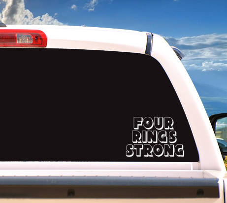 Autosticker 'Four Rings Strong'