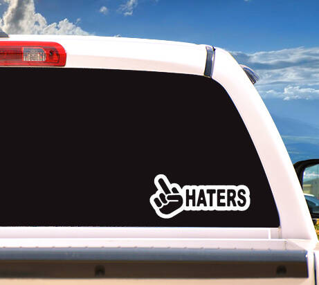 Autosticker 'F*CKHATERS'