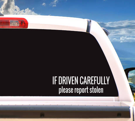 Autosticker 'Please Report Stolen'
