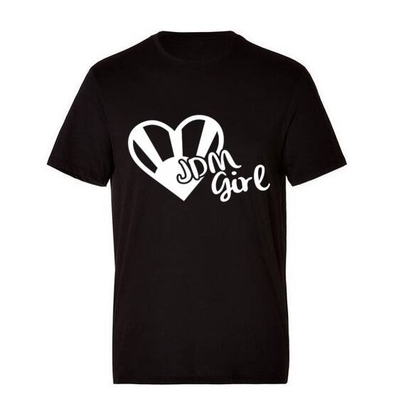 'JDM GIRL' T-Shirt Glow In The Dark