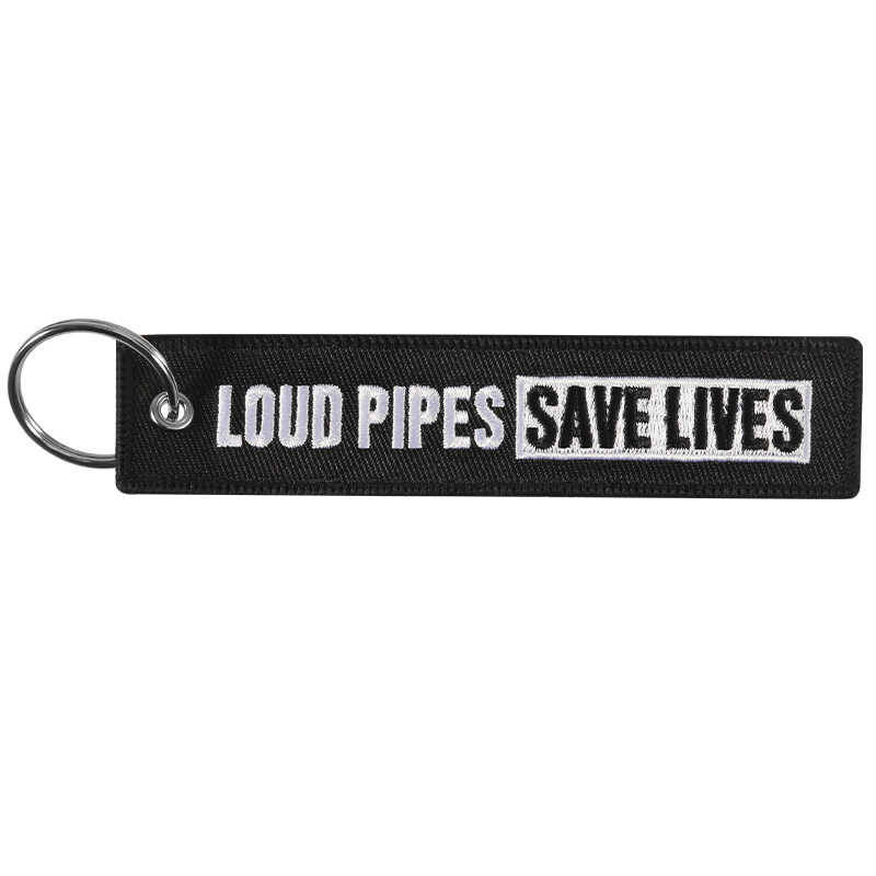 Sleutelhanger 'LOUD PIPES SAVE LIVES'