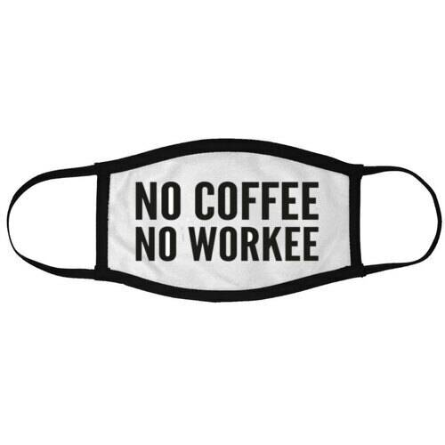 Mondkapje 'NO COFFEE NO WORKEE'