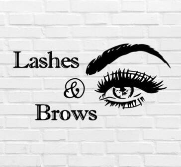 Muursticker 'Lashes & Brows' 50x30