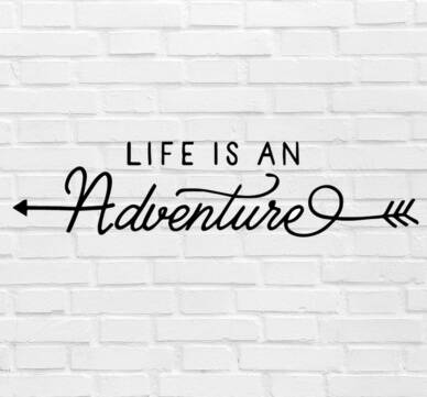 Muursticker 'Life Is An Adventure' 120x30