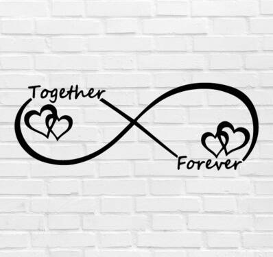 Muursticker 'Together Forever Infinity' 85x30