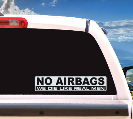 Autosticker 'NO AIRBAGS'