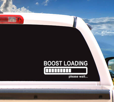 Autosticker 'BOOST LOADING PLEASE WAIT'
