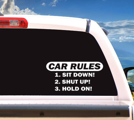 Autosticker 'CAR RULES'