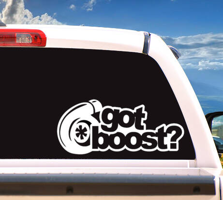 Autosticker 'GOT BOOST?'