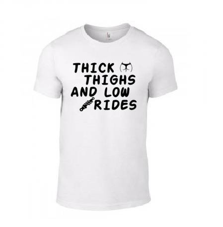 CarGirl 'Thick Thighs Low Rides' T-Shirt