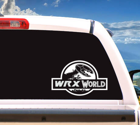 Autosticker 'Wrx World'
