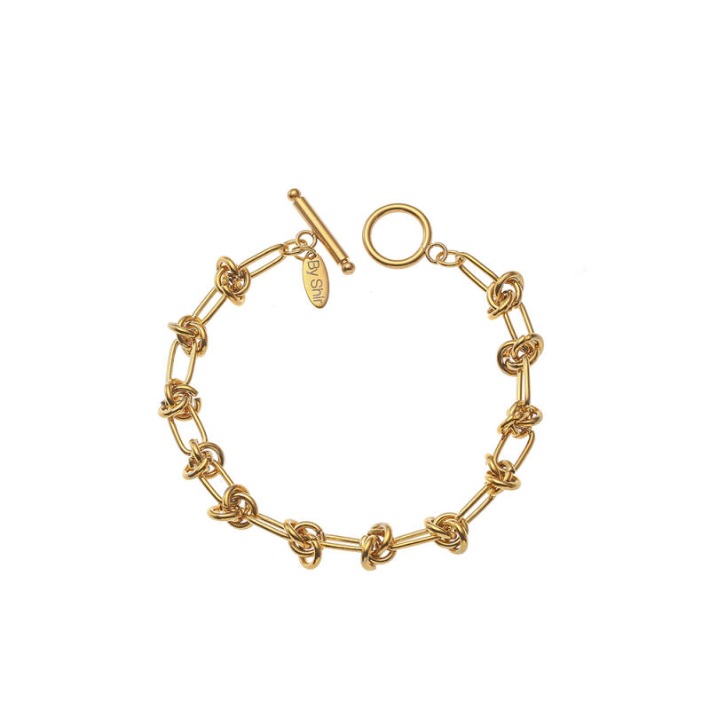 By Shir Armbnad Luxe Milou Edelstaal 14K