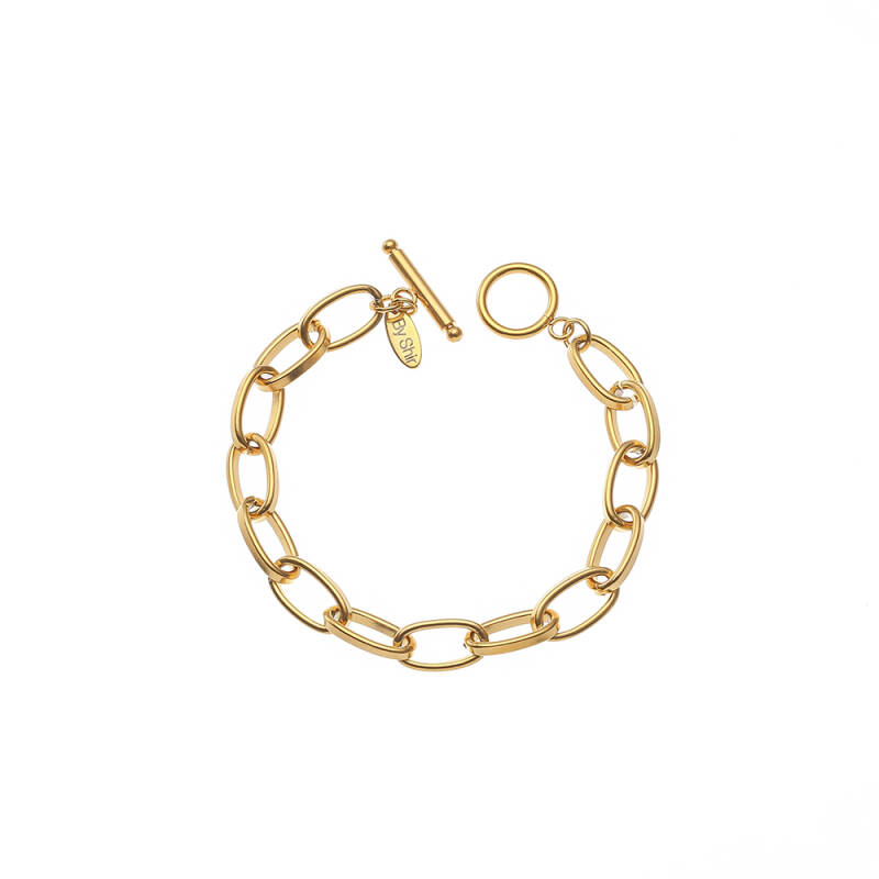 By Shir Armband Luxe Tessa Edelstaal / Goud