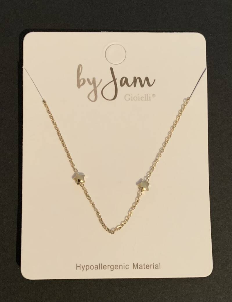 By jam ketting stars all over goud