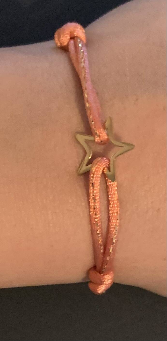 By jam armband roze ster goud