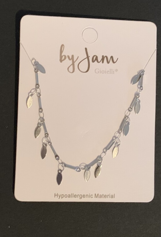By jam ketting drops zilver