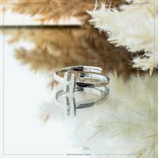Imotionals One Size  Ring Zilver of Goudkleurig Letter H