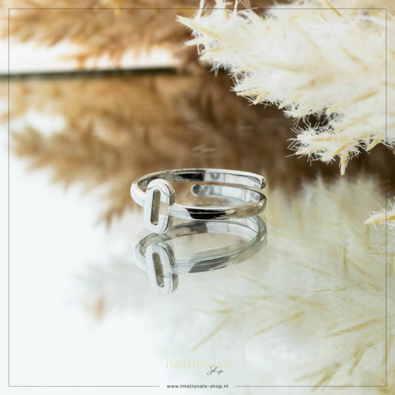 Imotionals One Size  Ring Zilver of Goudkleurig Letter C