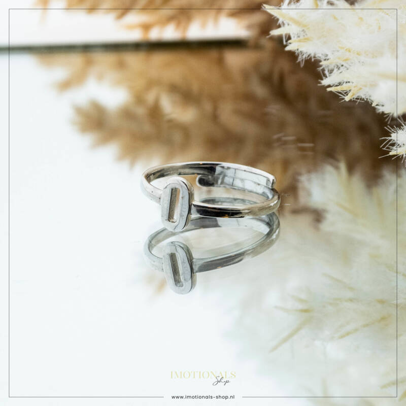 Imotionals One Size  Ring Zilver of Goudkleurig Letter O