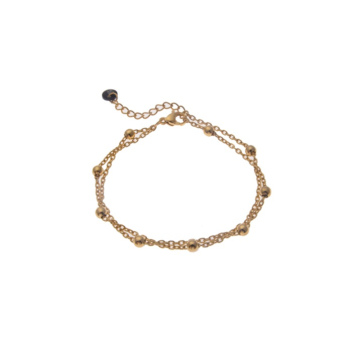 Go dutch label armband Balls & chain goud