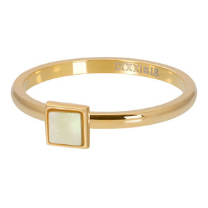 iXXXi 2mm yellow shell stone square goud