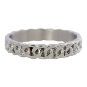 iXXXi 4mm curb chain zilver