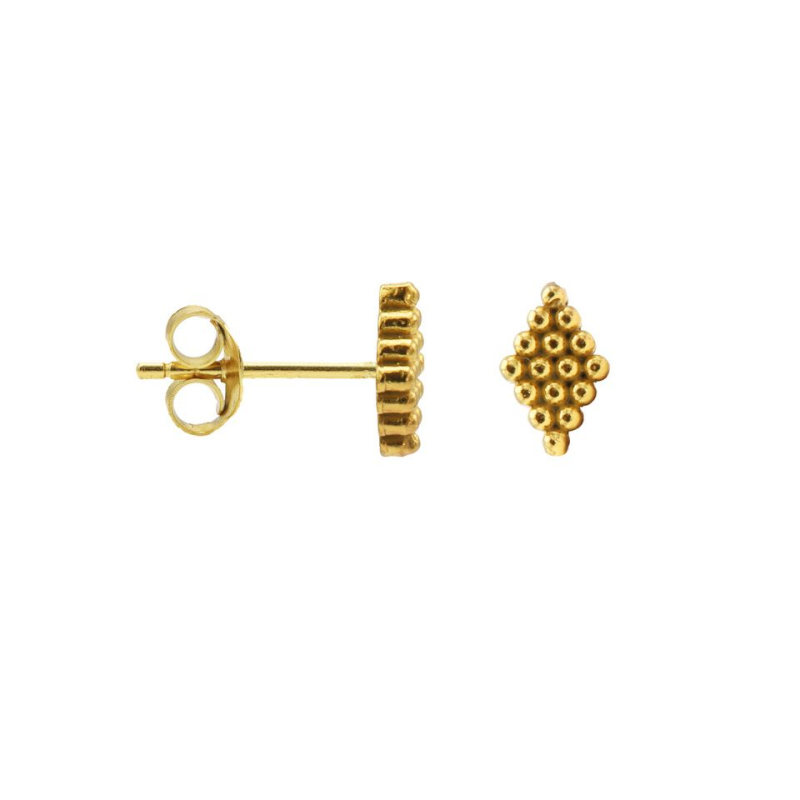 Karma Symbols Dots Diamond Goldplated