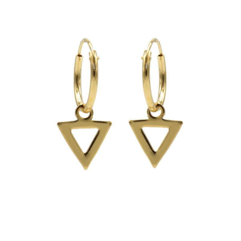 Karma Hoops Symbols Open Triangle Goldplated