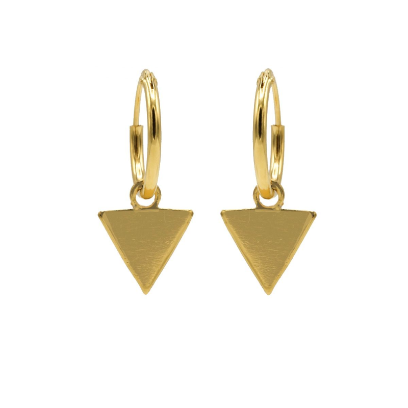Karma Hoops Symbols Triangle Goldplated