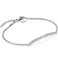 ZINZI armband met chique staafje wit 18-21cm ZIA1957