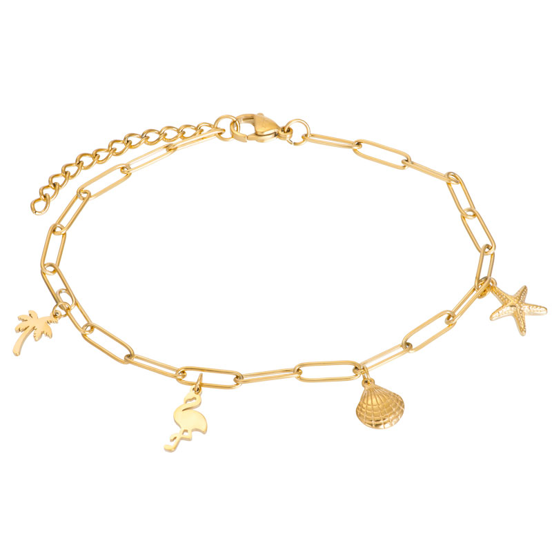 IXXXI enkelbandje with charms goud