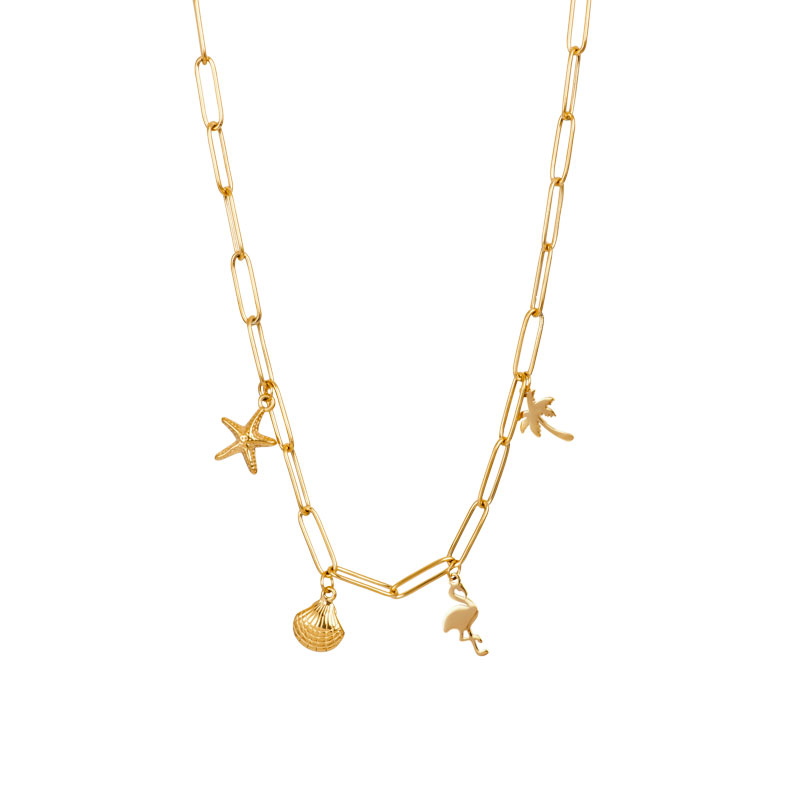 IXXXI ketting with charms goud